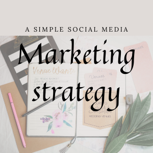 The simple social media marketing strategy